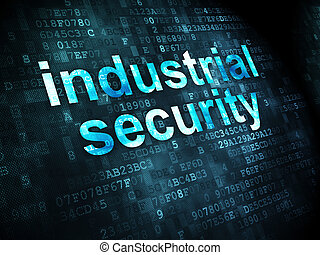 Privacy concept: Industrial Security on digital background -...