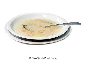 chicken minestrone - close up picture chicken minestrone