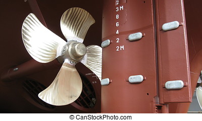 Ships propeller and rudder - Ships rudder and propeller