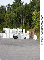 Old junk fridges - A waste disposal facility with fridges