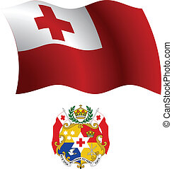 tonga wavy flag and coat