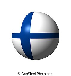 Sphere with flag of Finland