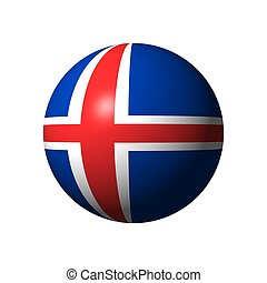 Sphere with flag of Iceland