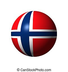 Sphere with flag of Norway