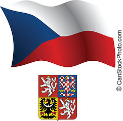 czech wavy flag and coat - czech republic wavy flag and coat...