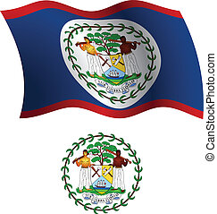 belize wavy flag and coat