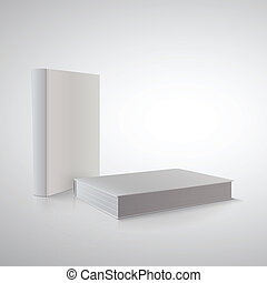 Vector book in perspective on white. Ready for your design.