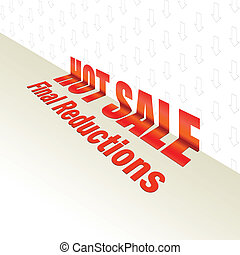 Hot sale design. Vector for your design