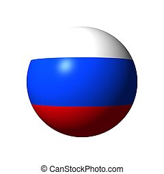Sphere with flag of Russia