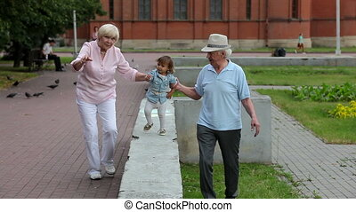 Spending time together - Grandparents enjoying spending time...