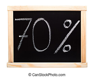 Seventy percent written on blackboard - 70 percent written...