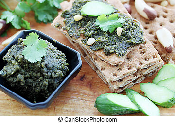 spicy pate of crushed nuts and fresh coriander