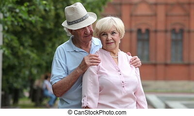 Tender touch - Portrait of a retired couple sharing a moment...