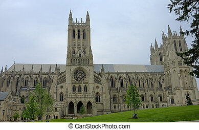 Washington Cathedral - front view of Cathedral in...