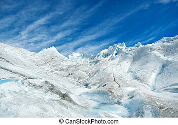 Surface of a glacier in patagonia. - Surface of Perito...