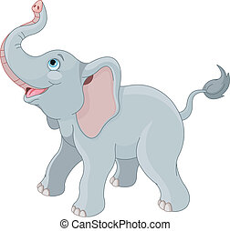 Cute elephant - Very cute little elephant.