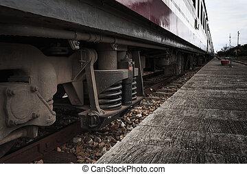 Suspension. - Suspension of train.