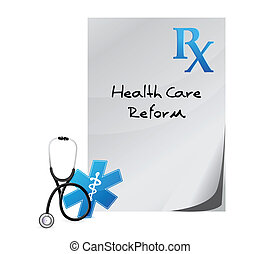 health care reform prescription concept illustration design