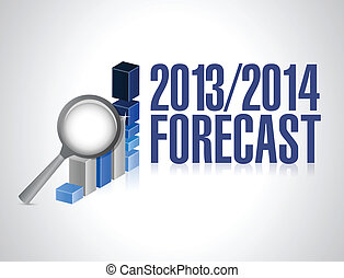 2013 2014 business forecast concept illustration design over...