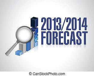 2013 2014 business forecast concept illustration design over...