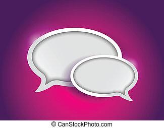 colorful communication bubbles concept
