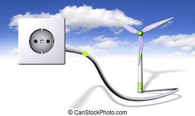green energy - loop able animation of a green energy concept