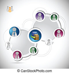 online education student network concept illustration design...
