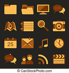 Flat icons vector set 5