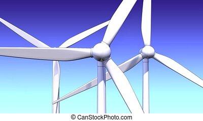 windmills - loop able animation
