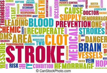 Stroke Medical Concept of Early Warning Signs