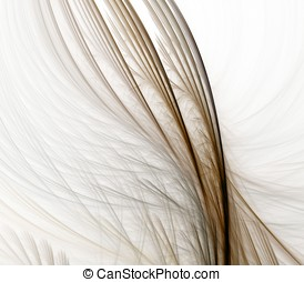 Fiber Feathers Abstract - Flowing, woven brown feather...