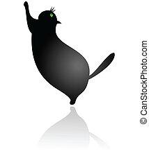 Big Fat Cat Standing vector
