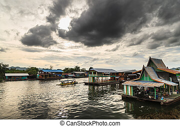 Kanchanaburi Thailand - Landscape along the banks of the...