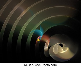 Arch Rippling Abstract Design