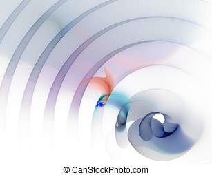 Arch Rippling Abstract - Sheer rippling arching design...
