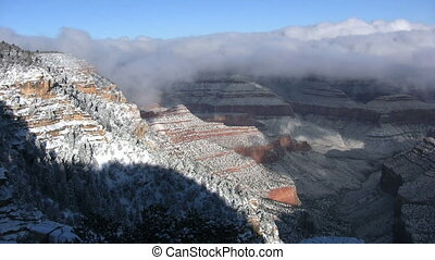 Grand Canyon in Winter - a snow covered winter landscape of...