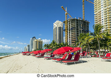 skyscraper at Sunny Isles Beach in Miami, Florida