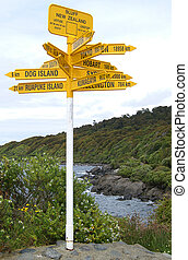 International Signpost in Bluff, NZ - International Signpost...