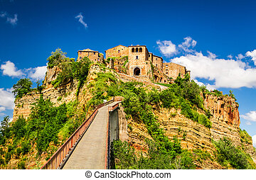 View of the town Bagnoregio, Tuscany