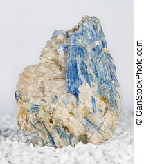 Blue kyanite blades in matrix, an aluminium silicate with...