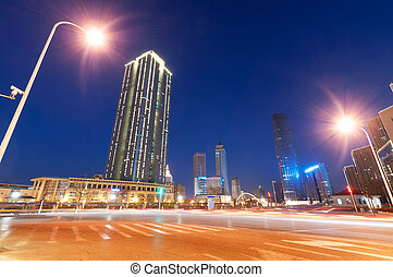 modern city at night ,tianjin
