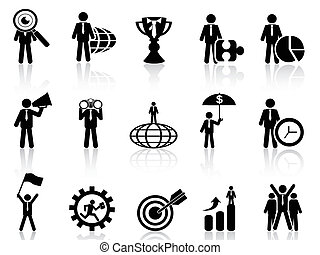 business metaphor icons set - isolated business metaphor...