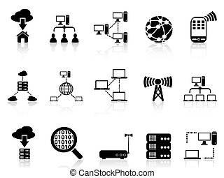 computer communication icons set