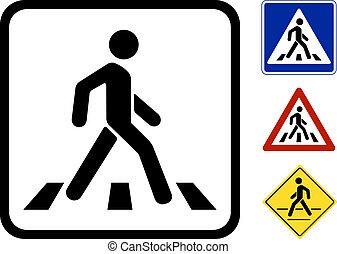 Vector Pedestrian Symbol - Pedestrian Symbol Vector...