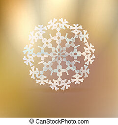 Christmas gold background with snowflake.