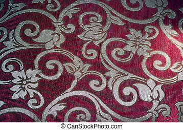 upholstery red and gold floral - furniture upholstery with...
