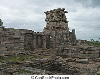 Sanchi - Ruined structure of Temple Forty five, 45 at Sanchi...