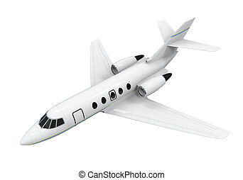 Airplane Jet Isolated on white background 3D render