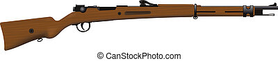 Old Rifle - Antique rifle of the First World War with a...