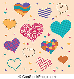 Vector Heart Icons - Vector Illustration of Heart Icons